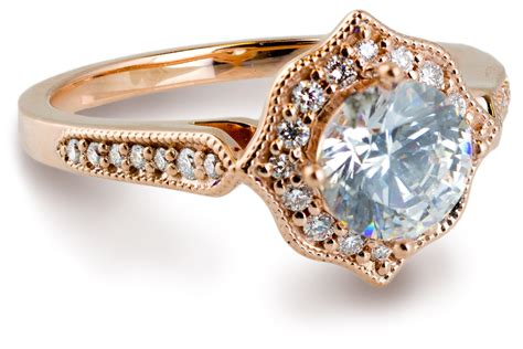 Side Accent Halo Ring 1216 vintage halo engagement ring with accents 7871