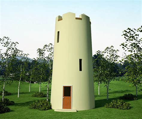 observation tower and guard tower earthbag house plans