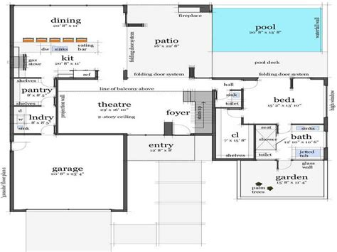 Beach Floor Plans by Ideas Beach House Floor Plans Design With Folding Door