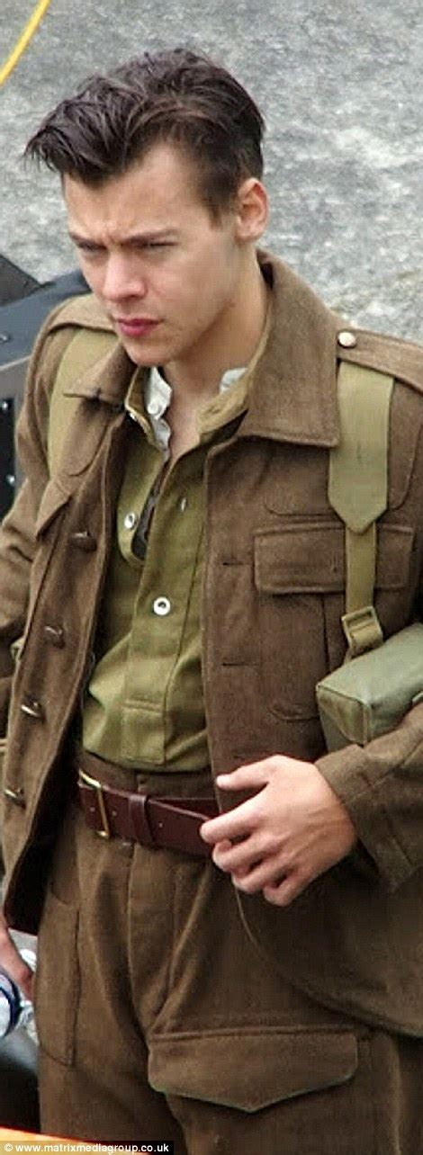 1940 back sides hair styles harry styles shows off his new 1940s style military cut on