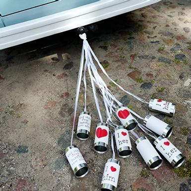 Wedding Car Tin Cans by Wedding Car Decorations Just Married Tin Cans Number