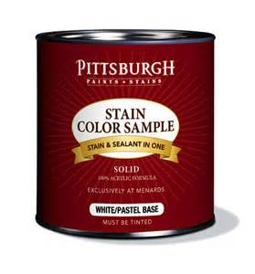 pittsburgh paints amp stains 174 exterior stain color samples