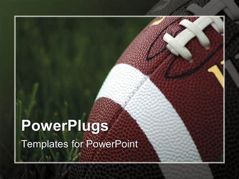 powerpoint football template powerpoint template up of american football on
