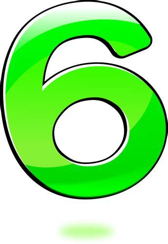 numeri clipart vector clip of glossy number six domain vectors