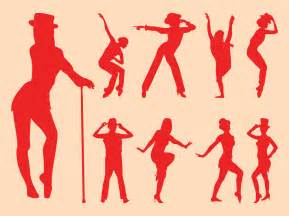 Sexy dancers silhouettes