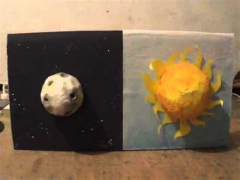 como hacer una maqueta del ecplise solar y lunar sol y luna maqueta youtube