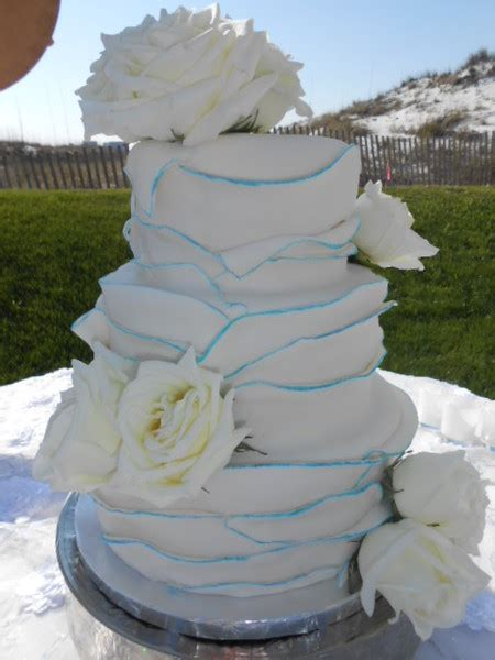 flowering wedding cake the cake destination destin fl wedding cake