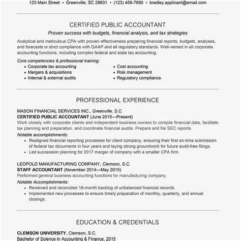 sle resume of a cpa tax accountant education requirements best education 2018