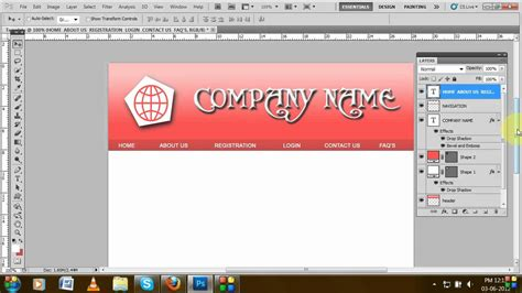 how to create template using adobe photoshop tutorial for