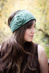 Headband With Flower - knitted headband with flower patterns a knitting blog
