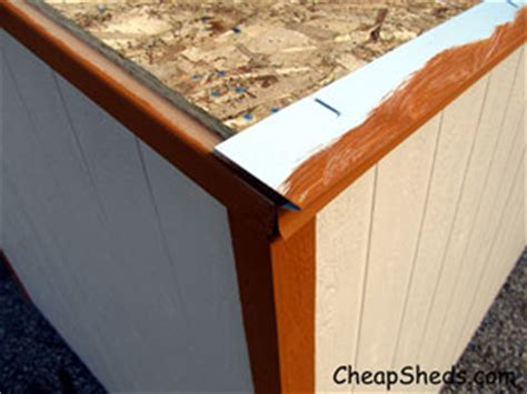 Shed Roof Drip Edge by How To Build A Shed Shingle The Roof