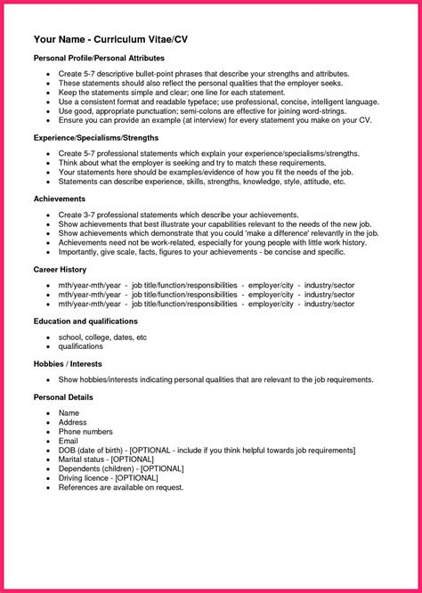 Personal Interests On Resume by Personal Interests Exles Bio Letter Format