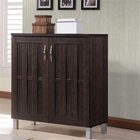 dark wood storage cabinet baxton studio harding wood shoe storage cabinet in dark