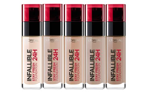 Shoo Loreal Di Malaysia l oreal make up designer infallible 24h liquid foundation 7 colors to choose hermo