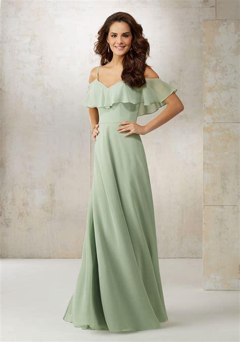 Chiffon Bridesmaid Dress by Chiffon The Shoulder Bridesmaids Dress Style 21509