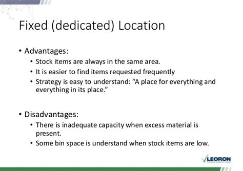 warehouse layout advantages and disadvantages warehouse and logistics sessions 3 4 day 2