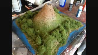 How To Make A Volcano Model Out Of Paper Mache - how to make a clay volcano 13 steps with pictures wikihow