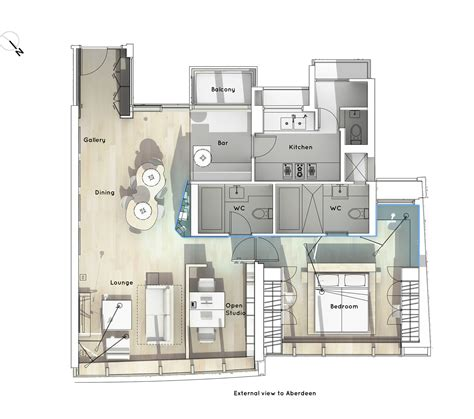 home office floor plan boathouse home office bean buro archdaily