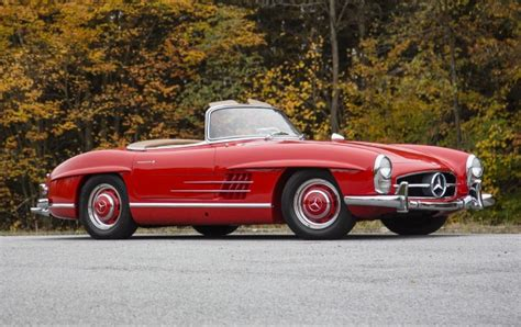 sls swings 1960 mercedes benz 300 sl roadster gooding company