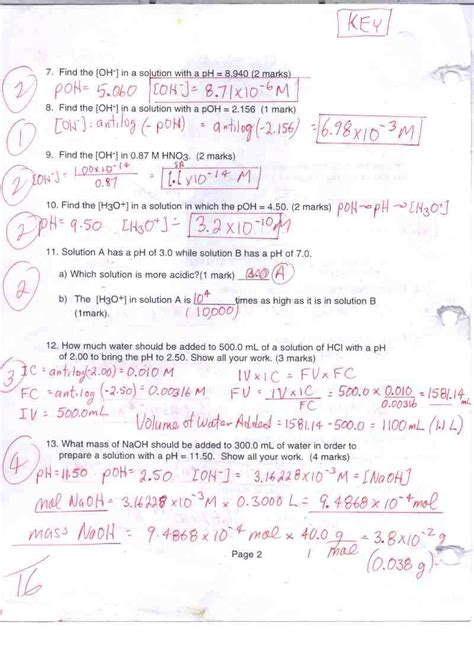 Acids Bases And Salts Worksheet Answers by Coursepage