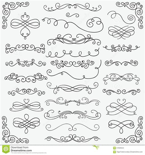 doodle free text option vector black doodle swirls collection stock