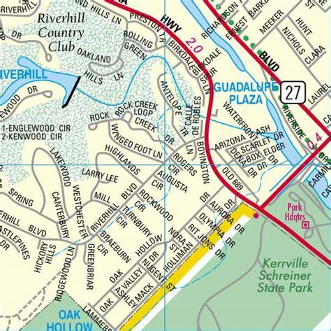 map kerrville texas kerrcofcmappage48