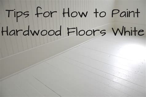 diy how to paint wood floors white revisited house