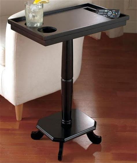 table cup holders home entertainment side pedestal accent table w cup