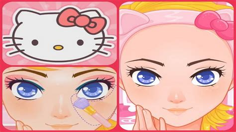 game design your hello kitty dress let s play design your hello kitty make up game episode