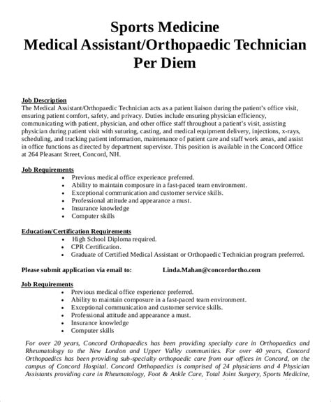 physician assistant description sle physician assistant description 8 exles