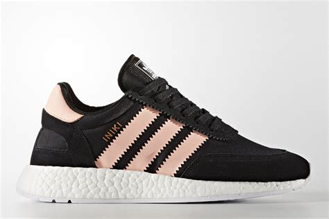 Adidas Iniki Boost Coral Pink Blue Mirror Quality adidas iniki runner boost april 20th colorways sneakerfiles