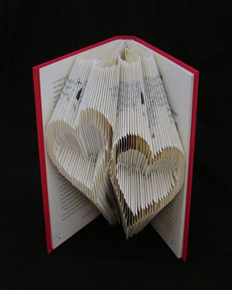 book origami folded books