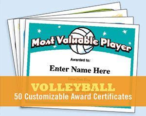 printable volleyball awards 1000 ideas about award certificates on pinterest