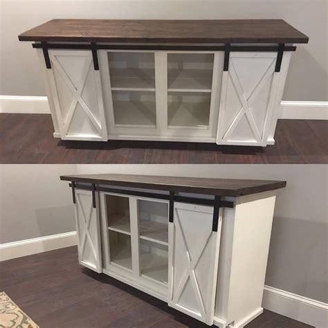 custom sliding barn door bar cabinet