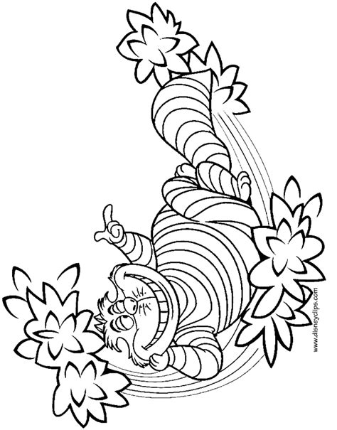 Alice In Wonderland Printable Coloring Pages 2 Disney Cheshire Cat Coloring Page