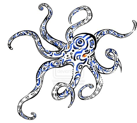 tribal squid tattoo octopus 10 tribal octopus
