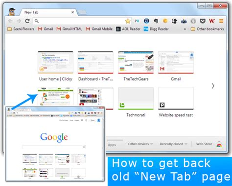 chrome old version how to revert back to old style new tab page in google chrome