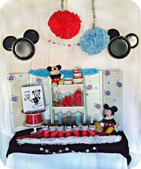 Kotak Tissue Mickey Mouse Pink pink balloons and macarons mickey mouse firefighter birthday