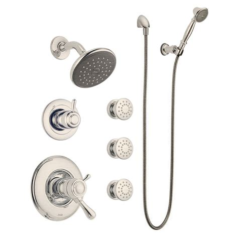 Country Kitchen Sinks - faucet com leland tempassure shower package ss in brilliance stainless by delta