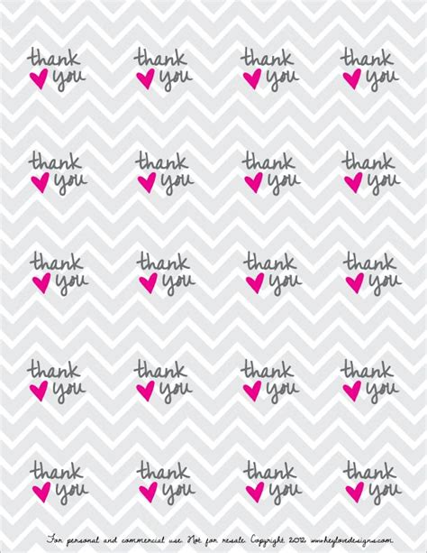 Thank You Card Tag Template by Free Printable Thank You Favor Tags Free Printable