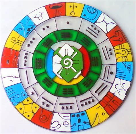 O Calendario Maia Calend 225 Maia Mandalas Em Vitral Elo7