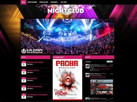 theme names for nightclubs 45 best music wordpress themes 2016 athemes