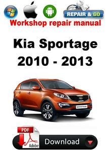 kia sportage 2010 2011 2012 2013 factory workshop repair manual