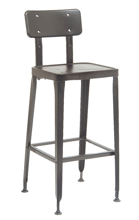 commercial metal bar stools bulldozer industrial steel gun metal side chair