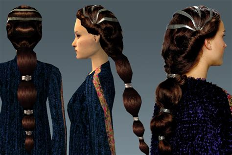 how to do padme hairstyles mod the sims padme s dressinggown hair
