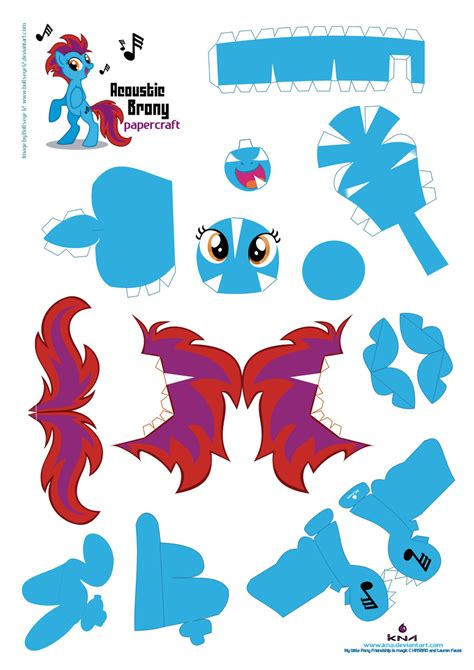 Paper Craft Patterns - acoustic brony papercraft pattern by kna on deviantart