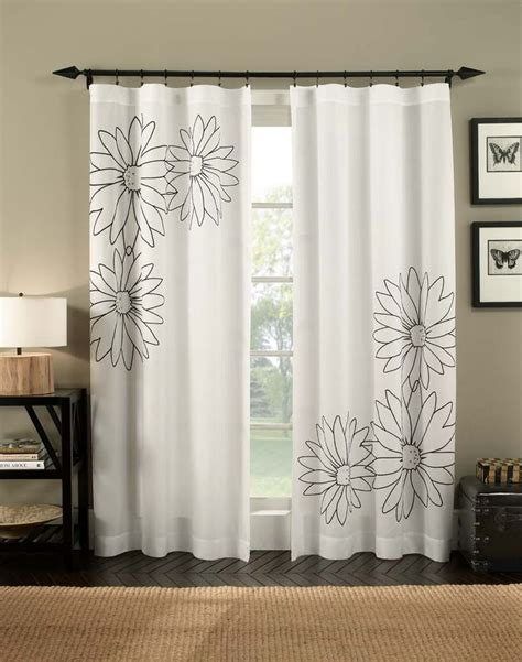 curtain works paint pattern onto white material idea marseilles floral