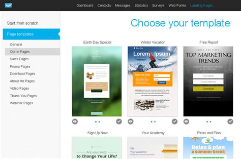Getresponse Vs Aweber Top Email Marketing Platforms Getresponse Landing Page Templates