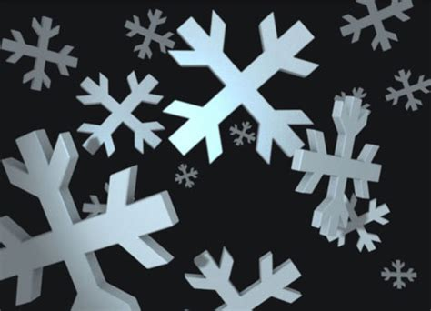 snowflake card template snowflakes 3d card