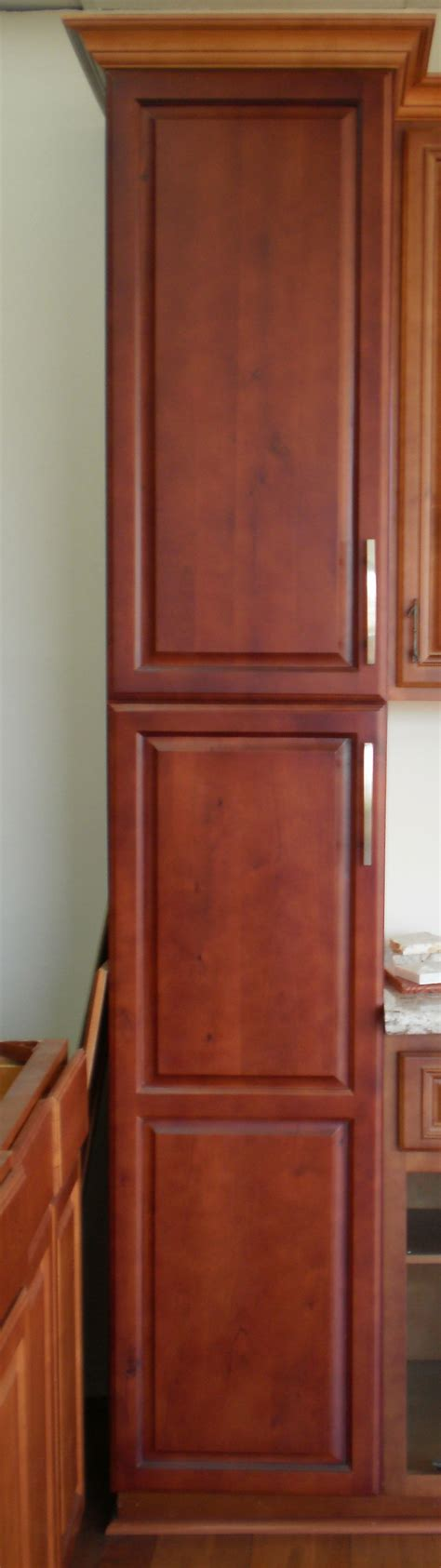 cherry maple pantry myt kitchen cabinet design
